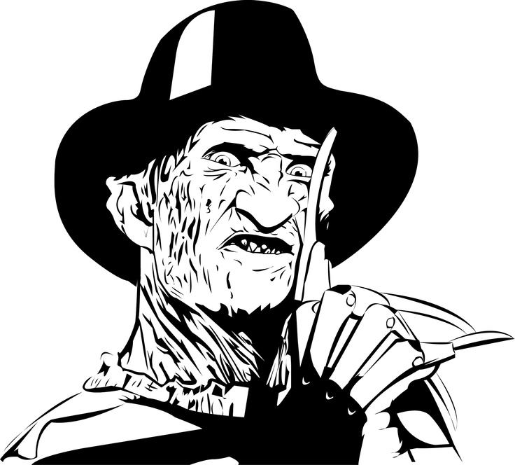 Freddy kruger coloring pages ~ 499 best ИЗВЕСТНЫЕ ЛЮДИ СИЛУЭТ images on Pinterest | Black ...