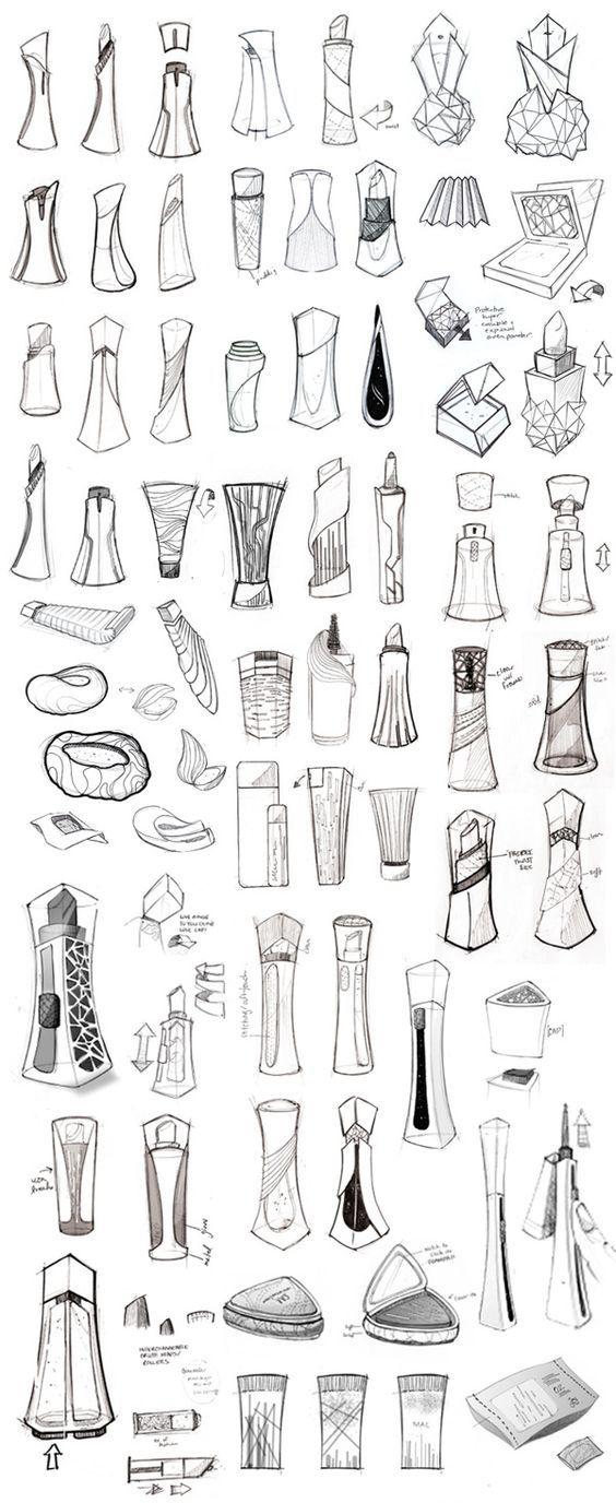 MAC Cosmetics + Virgin Galactic by Olivia Paden, via Behance - Good Product Design Sketch: