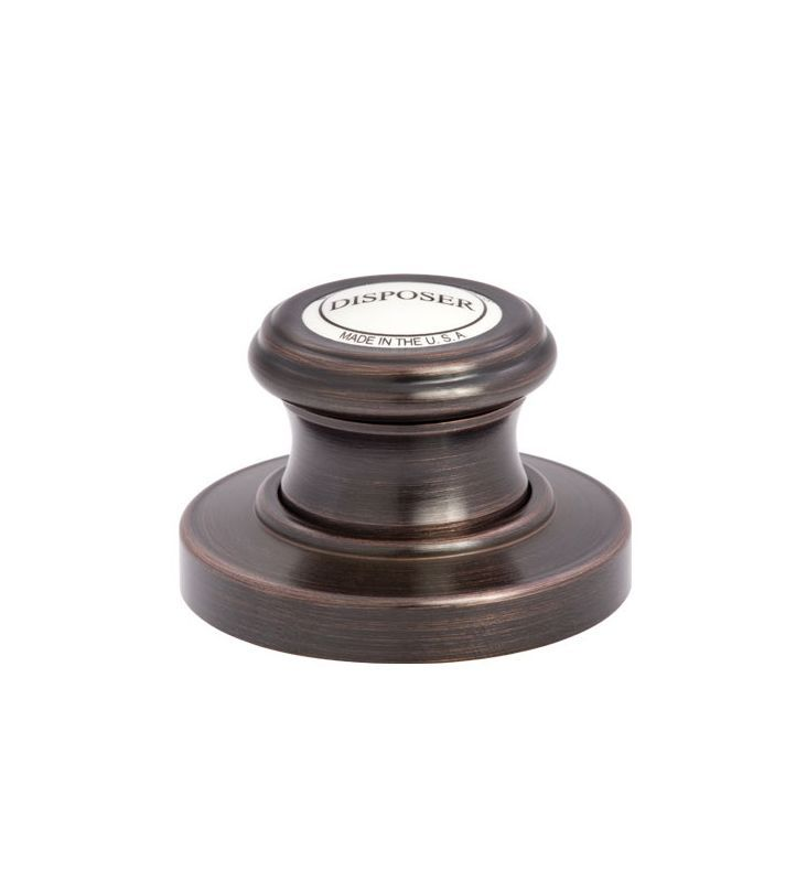 Waterstone 4010 Traditional Deck Mounted Air Switch for Garbage Disposal Caribbean Bronze Accessory Air Switch Deck Mounted