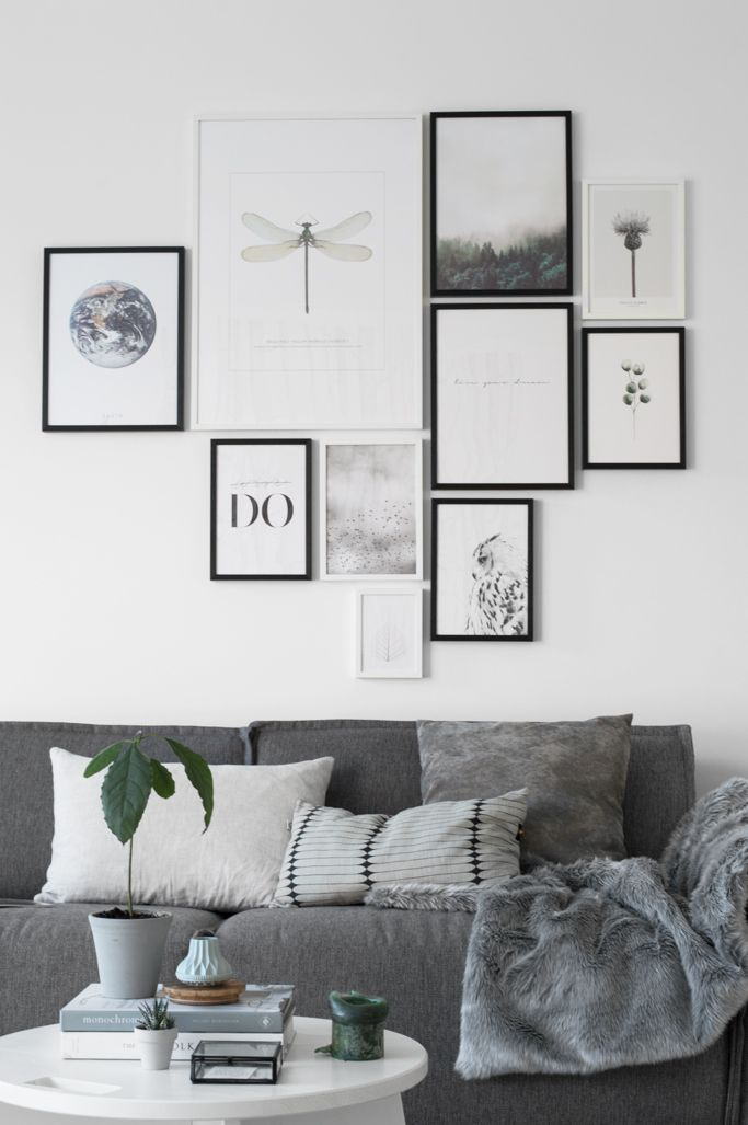 Photo Wall Living Room A Fun Modern Gallery Idea