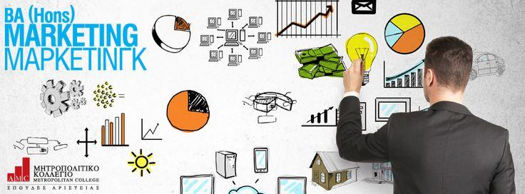 BA (Hons) Marketing (Μάρκετινγκ) Οι φοιτητές, παρακολουθώντας ένα μίγμα θεωρητικών αλλά και εφαρμοσμένων μαθημάτων, συνδυάζουν τη γνώση με την απαραίτητη εμπειρία και κατορθώνουν με την αποφοίτησή τους να είναι ιδιαίτερα ανταγωνιστικοί. Το πρόγραμμα, ακολουθώντας τις σύγχρονες ανάγκες, προσπαθεί να ανταποκρίνεται στις νέες εξελίξεις και στις απαιτήσεις της οικονομίας για εξειδικευμένα στελέχη με υψηλού επιπέδου επιστημονική κατάρτιση. http://ow.ly/ttcnc