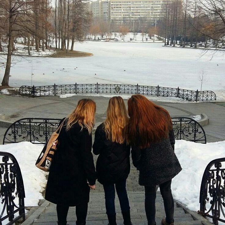 #aesthetic #ombrehair #friends #girls #blonde #redhair