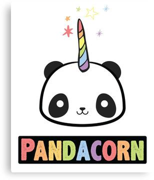 Pandacorn Unicorn Kawaii Funny Rainbow Graphic Tee Shirt