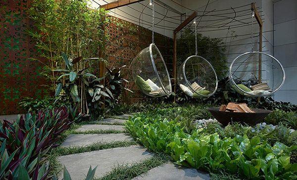 desain taman rumah modern lima