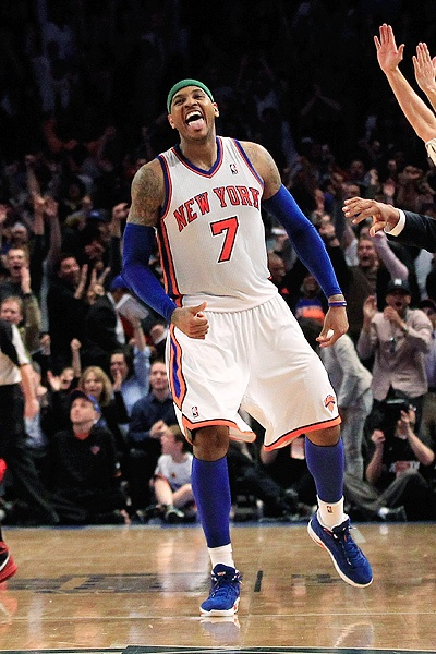 Carmelo Anthony  leage leader in scoring