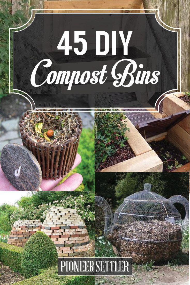 45 Diy Compost Bins To Make For Your Homestead Homesteading Com Compost Bin Diy Diy Compost Garden Compost Diy backyard compost bin