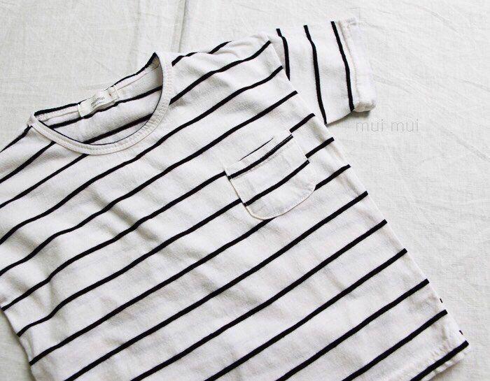 Kids Boys Girls Black Striped T-shirt White / 3T #Unbranded