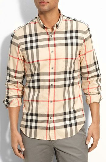 Burberry Brit Check Sport Shirt available at #Nordstrom