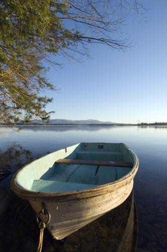 Row boat on Lake Winnipesaukee.