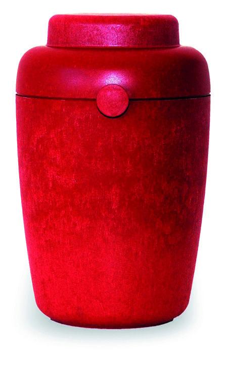 Urna Funeraria para cenizas 100% biodegradable. Serie Azrael Modelo Tellus Red.