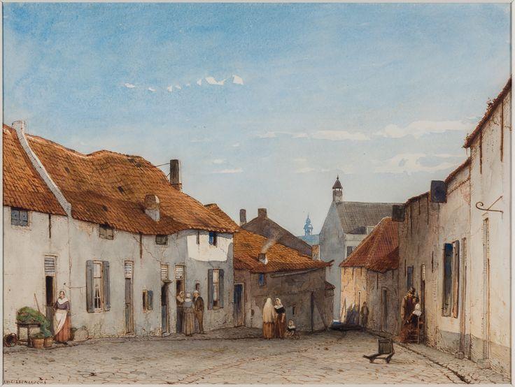 Jan Weissenbruch (1822-1880). De Grutterstraat te Rhenen, ca. 1850 Waterverf op papier, 27,5 x 36,5 cm Teylers Museum, Haarlem, aangekocht met steun van de BankGiro Loterij