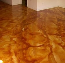 diy staining concrete- cant wait to do this to the pool house when it warms up!