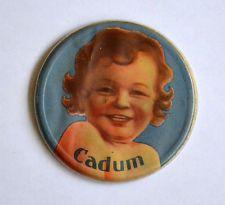 Ancien Petit Miroir Publicitaire de Poche, Sac de Dame : Savon Bébé CADUM -