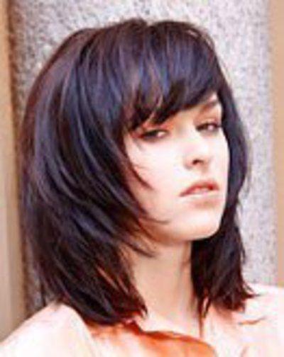 Frisuren mittellang gestuft dickes haar