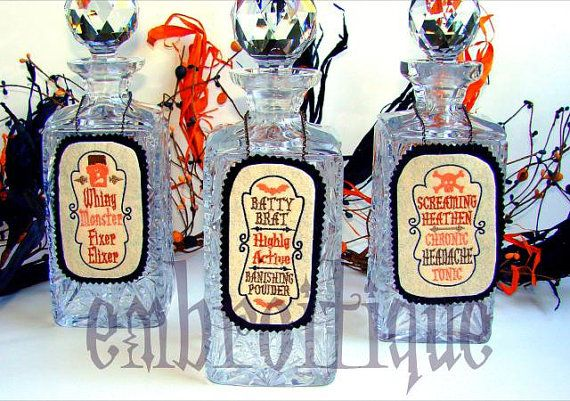 Halloween Witch's Potion Bottle Labels - Designed Fall 2011 - PeppermintCreative.com