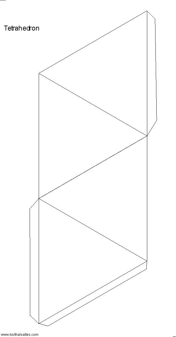 Tetrahedron template