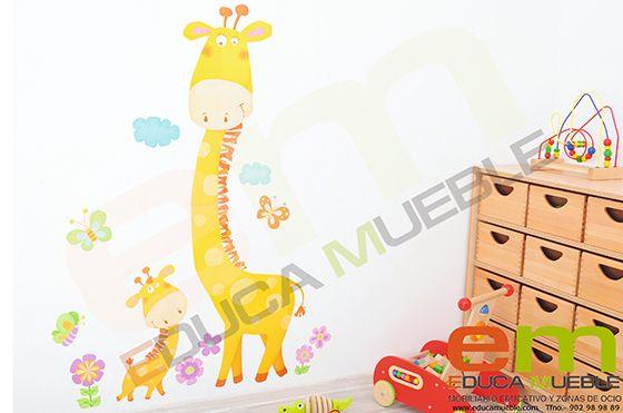 #Pegatinas grandes de jirafas. Se pueden cor en un espejo, en la pared o en una cristalera. Tienen una superficie mate y son fáciles de quitar. #Dormitorio #Habitacion #infantil  - Tienda Educamueble