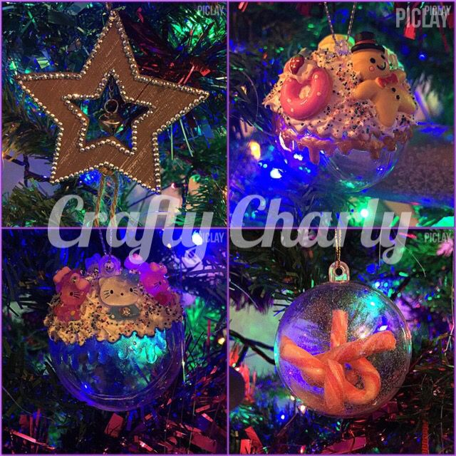 Some of the Crafty Charly decorations in action this year :D x #craftycharly #barnsley #madeinyorkshire #decoden #christmas