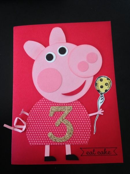 Peppa Pig Birthday - Emma Stark (Adelaide, AU) My version of Peppa for my little girl using Stampin Up! Punches.
