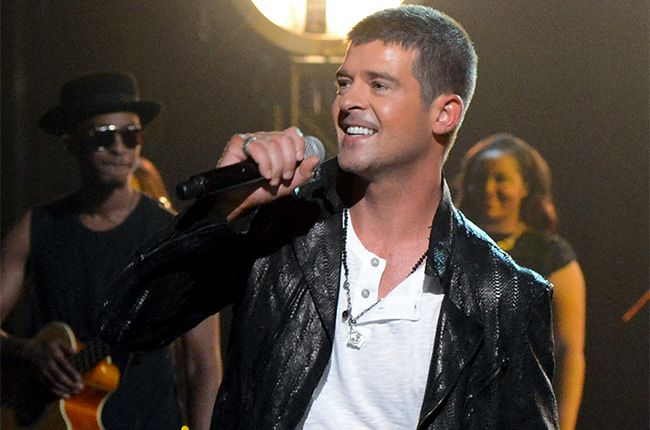 "Robin Thicke performs ""Get Her Back"" onstage during the 2014 Billboard Music Awards."