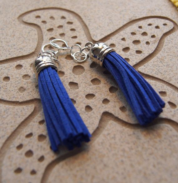 Cleopatra  Blue Boho Tassel Silver Domed by InspiredDesigns4YOU, $30.00