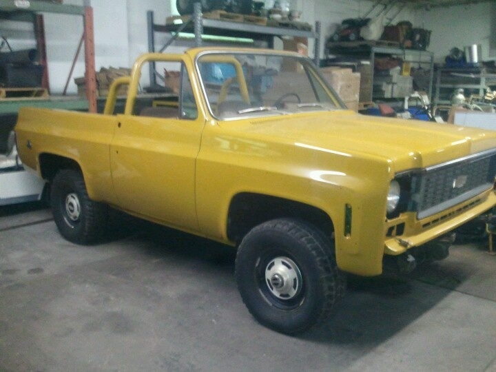 74 K5 Blazer ,painted almost 20 years ago,never finished.Have all Cheyenne chrome,New bumpers,  GM fenders and new Quarters,putty on seams only,(and new panel deficiencies). ultimate rustproofing throughout (inside doors and quarters) new engine and gas tank.  3.73 gears.Comes with parts to finish ,including rally wheels. $5150
