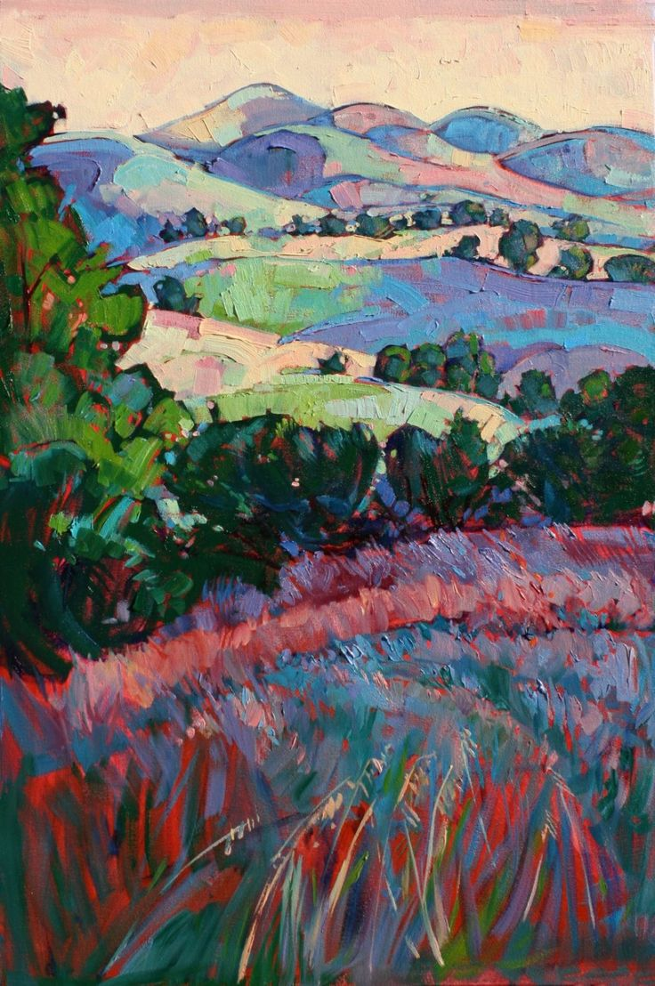 """Fields of Green"" - SOLD at Studios on the Park, Paso Robles!"