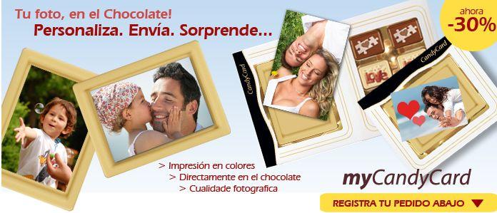¡Tu foto, en el chocolate! Personaliza. Envía. Sorpreende...