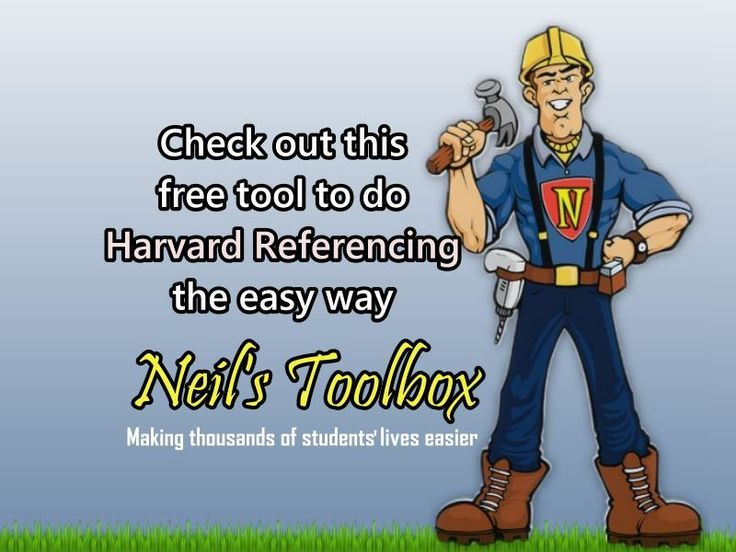 A free harvard-style reference generator tool. Just type in the author, title, etc and out pops your Harvard-style references ready to include in your essay or report. Makes Harvard Referencing easy!