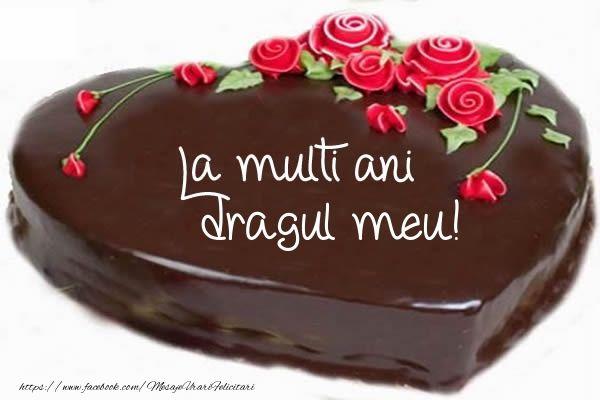 Felicitari de zi de nastere pentru Iubit - Tort La multi ani dragul