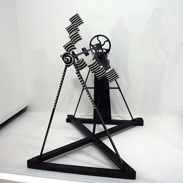 Marcel Duchamp - Rotative, plaques, verre - Plexiglas, verf, metaal, hout en elektrische motor