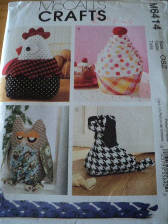 Sewing Pattern Mccalls Suffed Toy Door Stop 6414 Owl