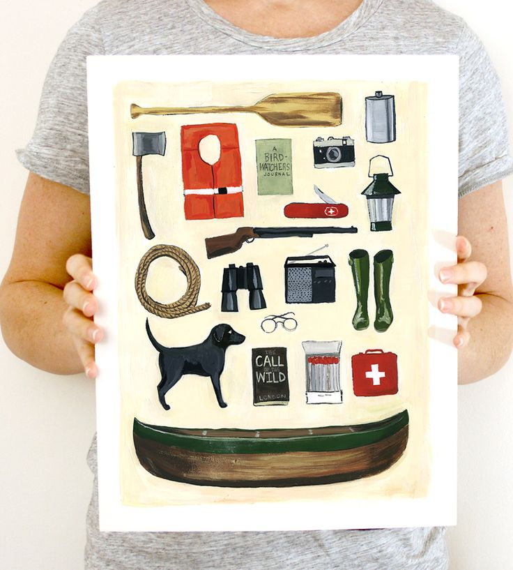 One of our makers in Conneticut captures the delights of Labor Day with her original painting printed onto heavy stock paper, perfect for celebrating this September.