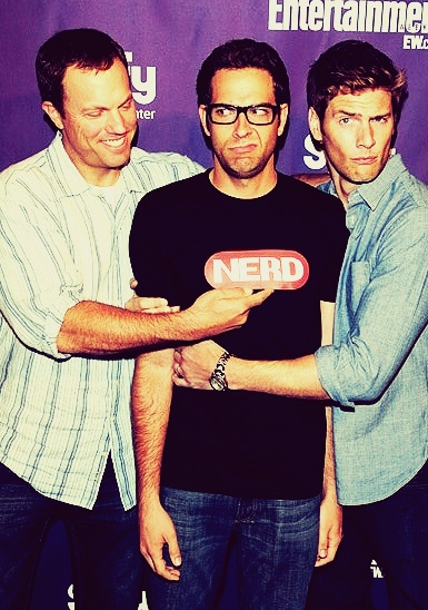 That awkward moment where the happiest one in the picture is John Casey (Adam Baldwin)