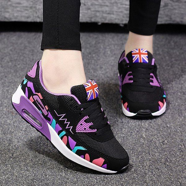 Trendy Breathable and Multicolor Design Athletic Shoes For Women #Unbranded…