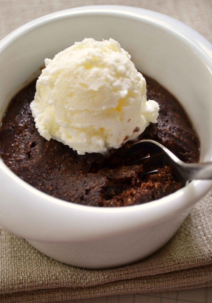 30 second brownie in a mug... 1 table spoon brown sugar, cocoa powder, flour, water, vegetable oil. mix together and pop in the microwave for 35-40 seconds