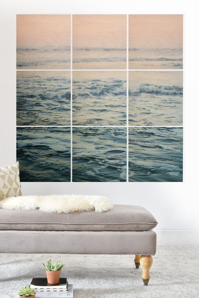 Leah Flores Pacific Ocean Waves Wood Wall Mural | DENY Designs Home Accessories