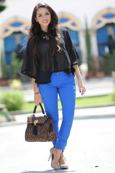 What to wear with cobalt blue jeansWhat To Wear, Classy Wear, Wear Fashiontip, Kinda Style, Fashion Trends, Style Closets, Fashiontip Fashiontrends, Style Tips