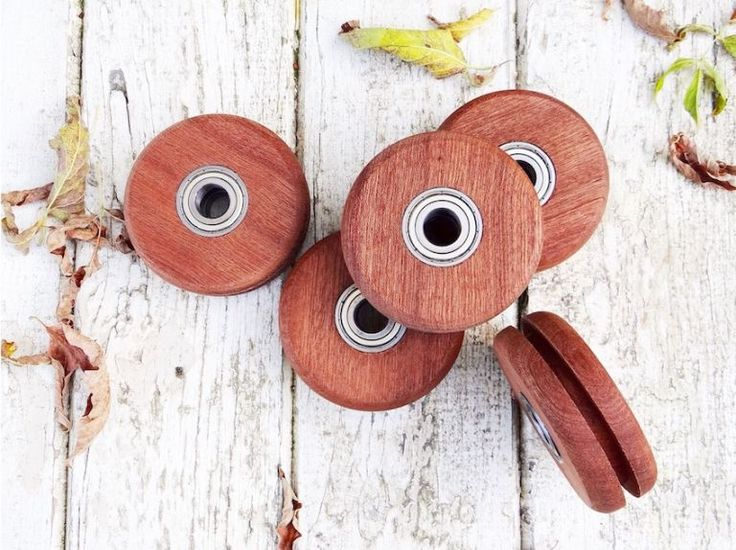 Amish handcrafted wheels for sliding door hardware http