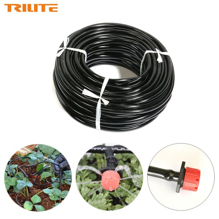 25m Distribution Tubing for Drip Irrigation System 4/7mm Garden Drip Hose PVC Pipe Automatik watering Irrigation Drip Pipes