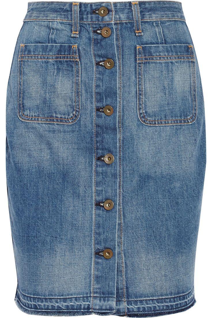 Rag & Bone JEANCotton-mini falda de mezclilla