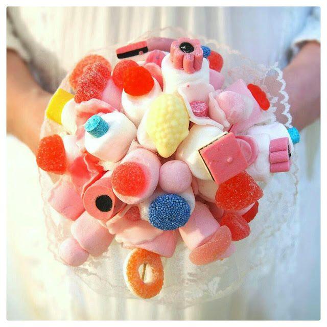 DIY Candy Wedding Bouquet. Tee-se-itse karkkikimppu häihin. Hääkimppu.