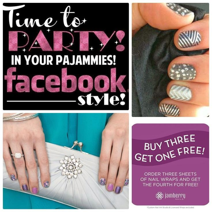 Who doesn't love online Jamberry Parties!!?? Party in your pj's :) www.stuckonyounails.jamberrynails.net