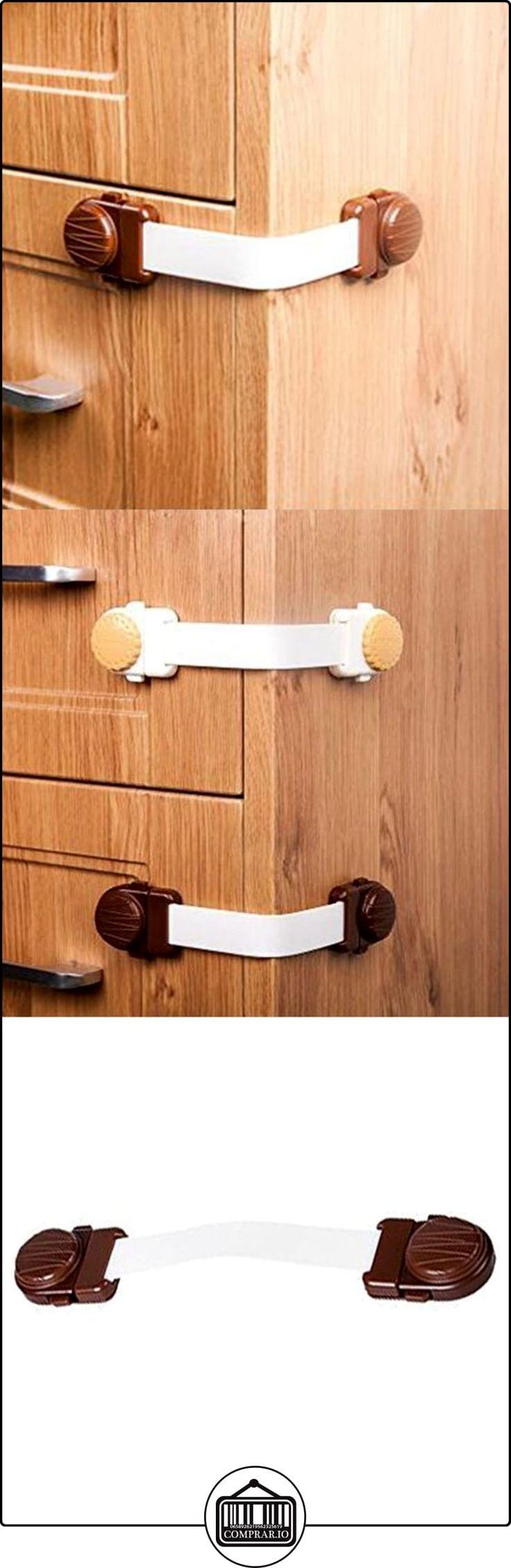 Highdas Child Proof Gabinete Cajón Refrigerador Asiento de WC Seguridad Cerraduras de la correa Bebé Prueba Pestillos Café Color 3 Packs  ✿ Seguridad para tu bebé - (Protege a tus hijos) ✿ ▬► Ver oferta: http://comprar.io/goto/B01N7Q9RMY