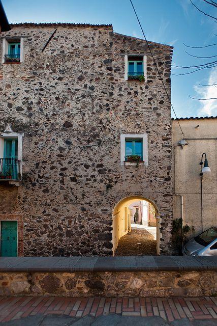 Centro storico di Orosei, Sardinia, Italy