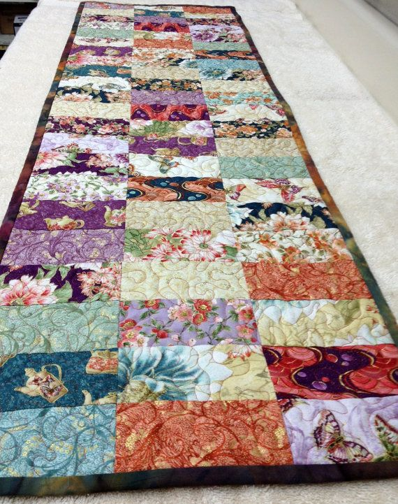 Asian Inspired Quilted Table Runner By Vschwam On Etsy Could Be Used As A  Bed Accent