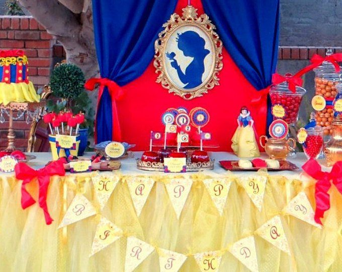 SNOW White Party- Silhouette – COMPLETE – Snow White Birthday- Girl Birthday Party – Snow White – Snow White Decorations – Princess Party