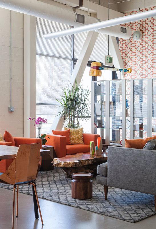 Blu Dot Mono Lounge Chair, Copper Real Good Chairs And Turn Stool In A  Bright San Fransisco Office. | Office | Pinterest | Stools, Contemporary  Furniture ...