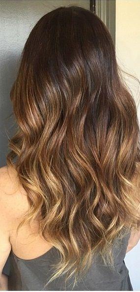subtle brunette highlights:
