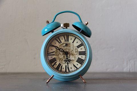 Large Vintage German Alarm Clock Jerger Duck Egg Blue ...